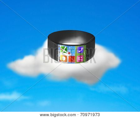 Ultra-lightweight Curved Screen Smartwatch On Cloud