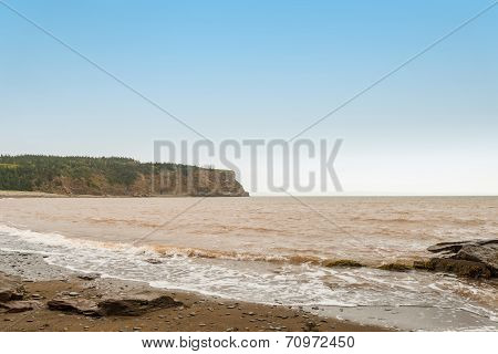 Cliff Of Cape Enrage Along The Bay Of Fundy