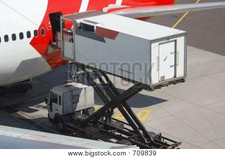 Unloading A Plane