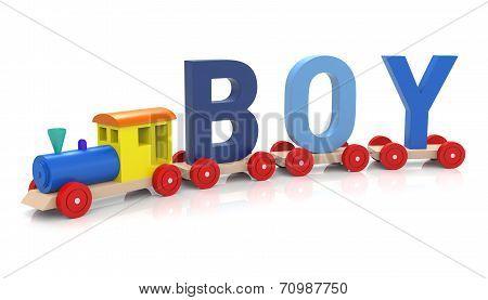 Toy Train & Boy