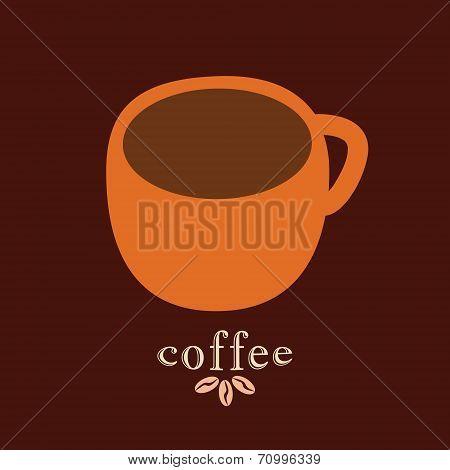 Coffee mug vector design template