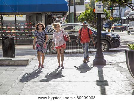 People Go Shopping Downtown Miami