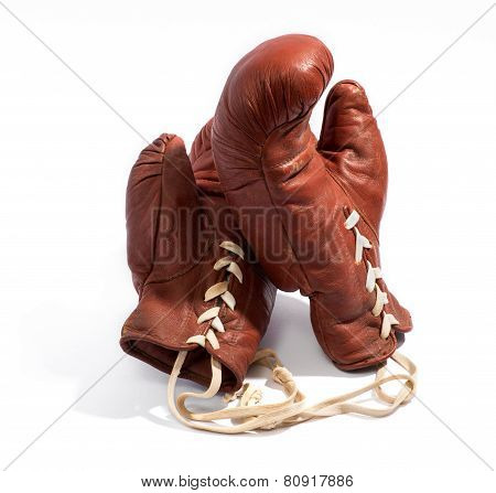 Pair Of Vintage Leather Boxing Gloves