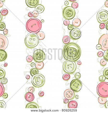 Strips of hand drew buttons