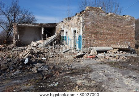Ruins Of The Brick Building