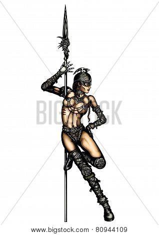 Warrior Woman Striptease