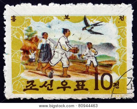 Postage Stamp North Korea 1963 Tale Of Hung Bu