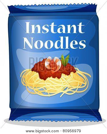 Illustration of a bag of instant noodles