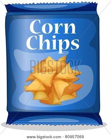 Illustration of a bag of corn chips