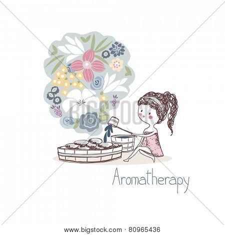 beauty concept, aromatherapy