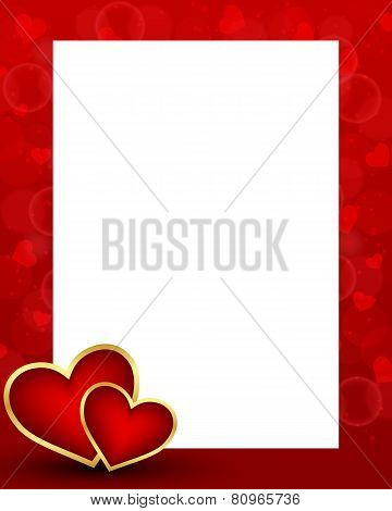 Valentine's Day Background With Card