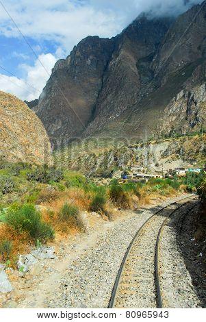 View Of Path Between Cusco And Machu Picchu, Peru