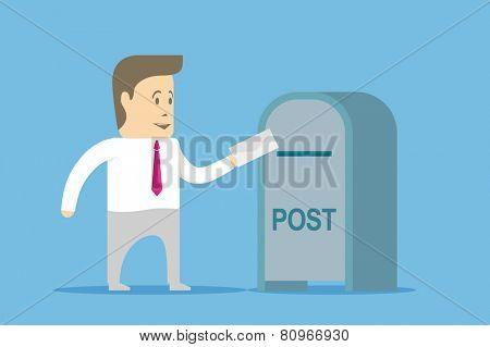 Businessman sends a letter