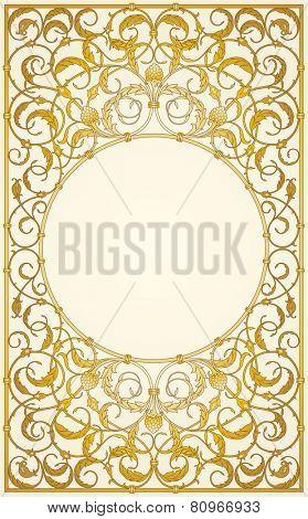 Decorative ornaments design in gold color (EPS10)