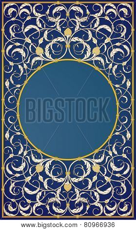 Decorative ornaments design in blue background (EPS10)