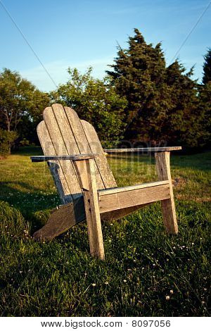 Chair At Sunset