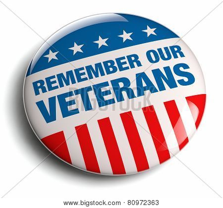 Veterans Day / Memorial Day badge. Isolated on white. poster