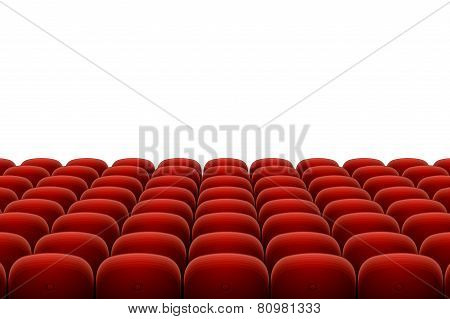 Vector red cinema, theatre seats