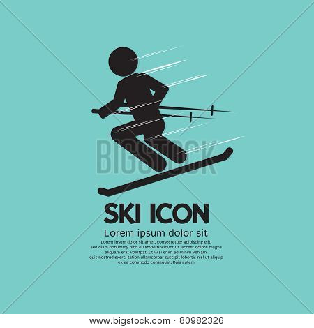 Ski Icon.