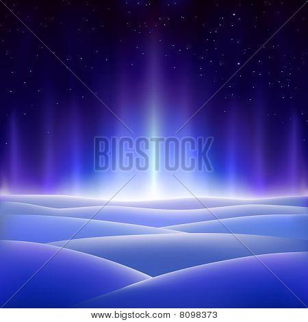 Snow Aurora Background
