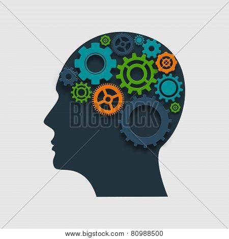 Head Profile With Gears