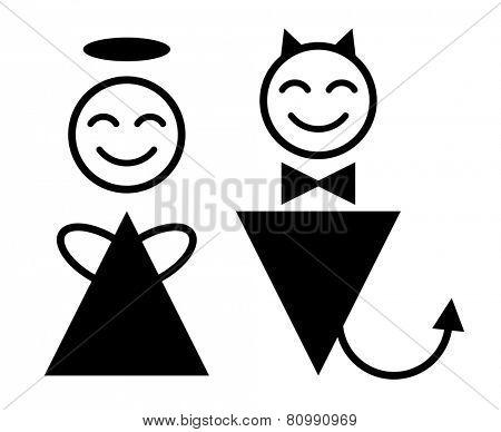 angel and devil symbol