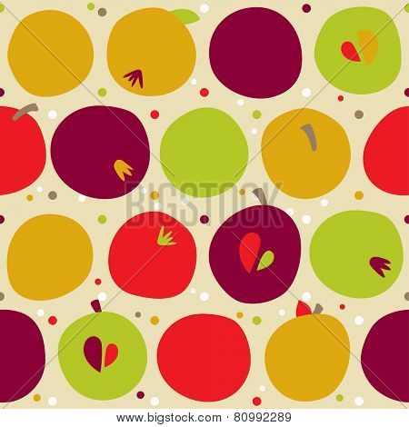 seamless pattern of autumn apple. Harvest background and Thanks giving dinner. eps 8