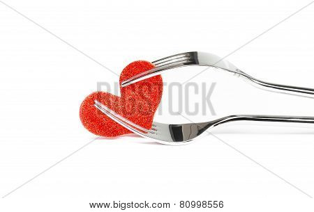 Restaurant Series, Valentine Day Dinner On White Background