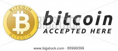 Golden bitcoin virtual currency.