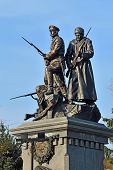 Monument to the Heroes of the First world war. Kaliningrad (formerly Koenigsberg) Russia poster