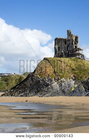 Ballybunion Castle With Scafolding
