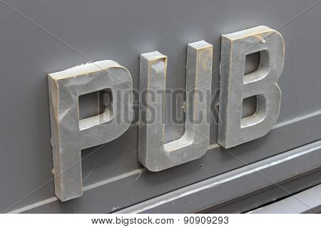 3D Signboard English Pub