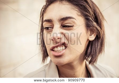 Woman Making Disgust Expression
