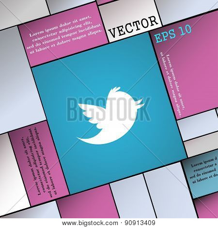 Messages Retweet  Icon Sign. Modern Flat Style For Your Design. Vector