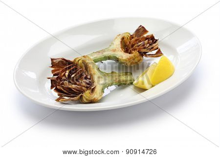 deep fried artichoke, roman jewish cuisine, carciofi alla giudia poster