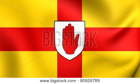 Flag Of Ulster Province, Ireland.
