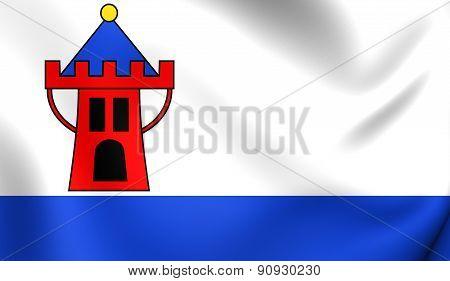 Flag Of Koscian, Poland.