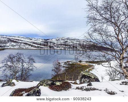 Landscape In Norway Under Snow