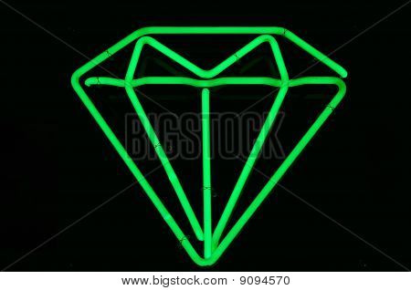 Green Emerald Neon Sign
