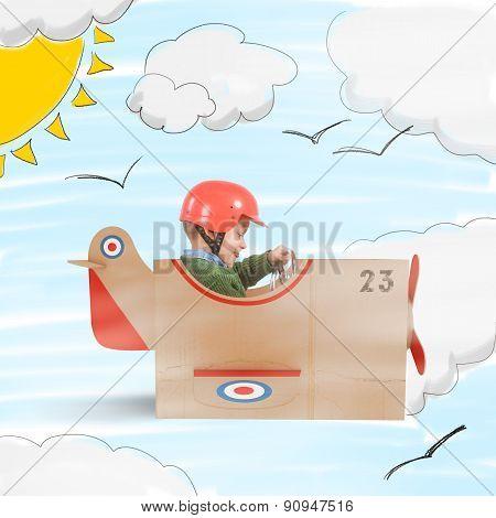 Plane of cardboard