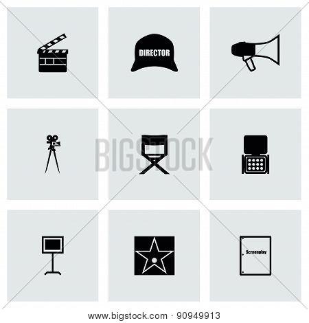 Vector Filming icon set