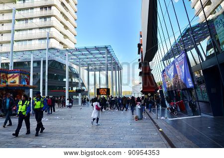 Almere, Netherlands - May 5, 2015: Crowd Participate In Celebrates Of Liberation Day At Almere.