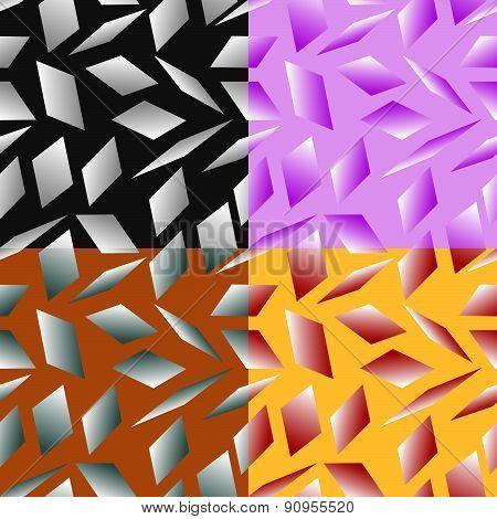 Seamless Patterns Stylized Under Glass