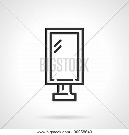 Lightbox black line vector icon