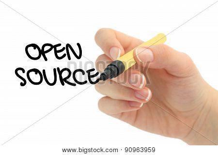 open source words written