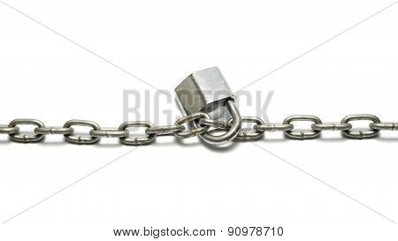 chain lock isolated on a white background