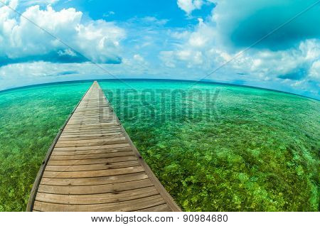 Pier In A Tropical Sea