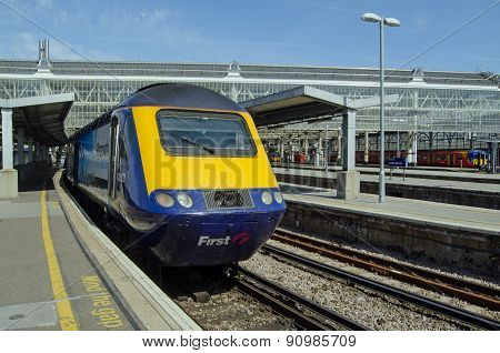 First Great Western Train at Waterloo Station, London