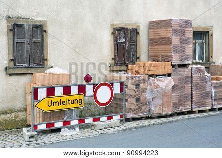 German Diversion Sign