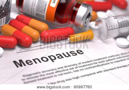 Diagnosis - Menopause. Medical Concept.